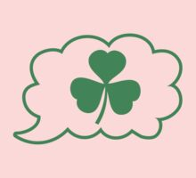 SHAMROCK irish talk speech bubble One Piece - Long Sleeve