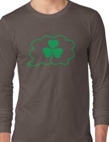 SHAMROCK irish talk speech bubble Long Sleeve T-Shirt