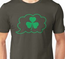 SHAMROCK irish talk speech bubble Unisex T-Shirt