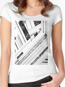 Retro Doodle Women's Fitted Scoop T-Shirt