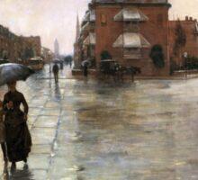 Childe Hassam - Rainy Day, Boston American Impressionism Landscape Rain Sticker