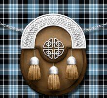 Clan Clark Tartan And Sporran Sticker