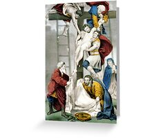 Descent from the cross - 1907 - Currier & Ives Greeting Card