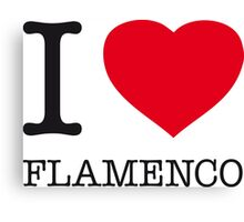 I ♥ FLAMENCO Canvas Print
