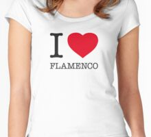 I ♥ FLAMENCO Women's Fitted Scoop T-Shirt