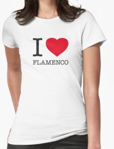 I ♥ FLAMENCO Womens Fitted T-Shirt