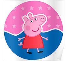 Peppa Pig Stamp Poster