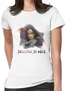 Jessica Jones - Brush Womens Fitted T-Shirt
