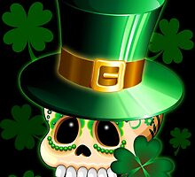 St Patrick Skull Cartoon  by BluedarkArt