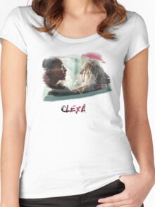 Clexa - The 100 - brush Women's Fitted Scoop T-Shirt