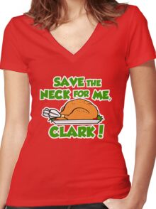 Save the neck for me Clark Women's Fitted V-Neck T-Shirt