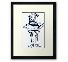 Tv Robot Framed Print
