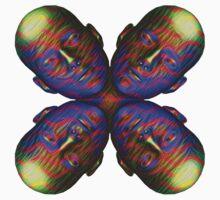 #DeepDream Masks - Heads - Butterfly 5x5K v1455803831 Kids Tee