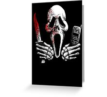 Skulls, Bones, Knives and Phones Greeting Card