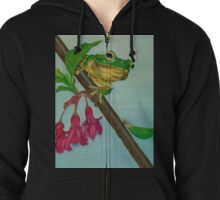 a peaceful frog Zipped Hoodie