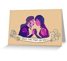 Femslash February - Korrasami Greeting Card
