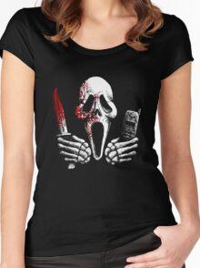 Skulls, Bones, Knives and Phones Women's Fitted Scoop T-Shirt