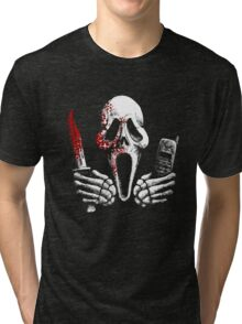 Skulls, Bones, Knives and Phones Tri-blend T-Shirt