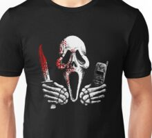 Skulls, Bones, Knives and Phones Unisex T-Shirt