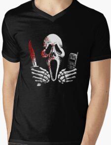 Skulls, Bones, Knives and Phones Mens V-Neck T-Shirt