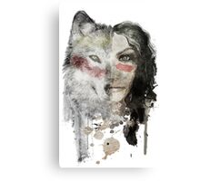 wolf lady  Canvas Print