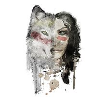 wolf lady  Photographic Print
