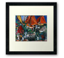 Dufy Raoul - Fte Nautique The Regatta 1920-1922 , Seascape  Framed Print