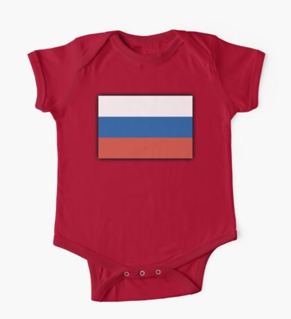 RUSSIAN, Soviet Union, Russia, Russian Flag, Russian National Flag, USSR, Pure & Simple, Putin One Piece - Short Sleeve