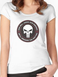 god will judge our enemies we'll arrange the meeting Women's Fitted Scoop T-Shirt