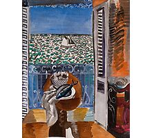 Dufy Raoul - View Through A Window, Nice  1925 , Impressionism , Seascape  Photographic Print