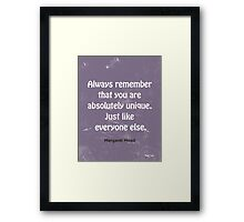 Funny quote  Framed Print