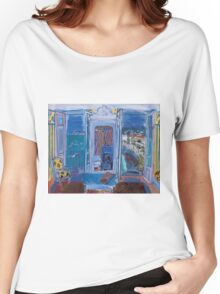 Dufy Raoul - Window Opening on Nice 1928 ,   Seascape  Women's Relaxed Fit T-Shirt