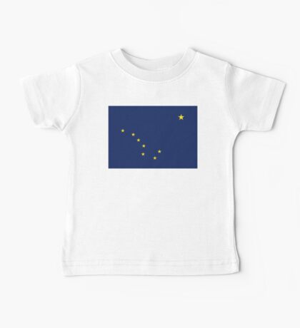 ALASKA, Alaskan, Flag, Flag of Alaska, State flags of America, US, USA Baby Tee