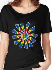 Rainbow Rays Women's Relaxed Fit T-Shirt