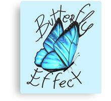 (Blue) Butterfly Effect Canvas Print
