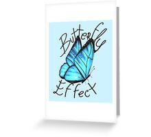 (Blue) Butterfly Effect Greeting Card
