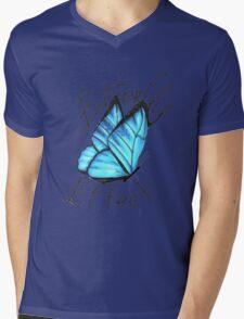 (Blue) Butterfly Effect Mens V-Neck T-Shirt