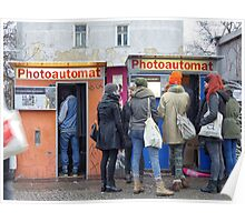 Old photo booth in Berlin, Germany (Fotoautomat) Poster