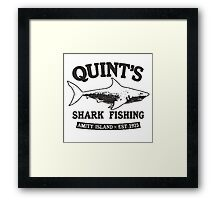 JAWS cool shark Framed Print