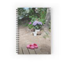 pink clogs Spiral Notebook