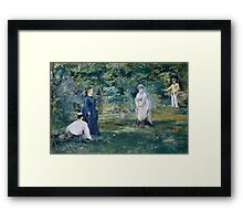 Edouard Manet - A Game of Croquet 1873 , French Impressionism  , Landscape Framed Print