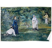 Edouard Manet - A Game of Croquet 1873 , French Impressionism  , Landscape Poster