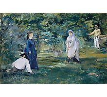 Edouard Manet - A Game of Croquet 1873 , French Impressionism  , Landscape Photographic Print