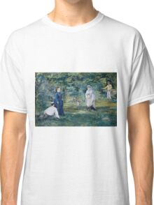 Edouard Manet - A Game of Croquet 1873 , French Impressionism  , Landscape Classic T-Shirt