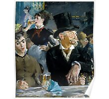 Edouard Manet - At the Cafe  1879 Poster