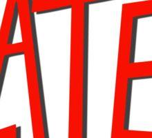 Slater Slayer logo parody Sticker
