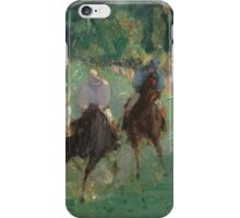Edouard Manet - At the Races  1875  French Impressionism  , Landscape iPhone Case/Skin