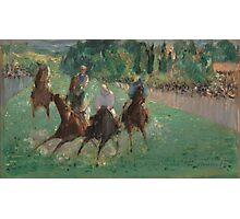 Edouard Manet - At the Races  1875  French Impressionism  , Landscape Photographic Print