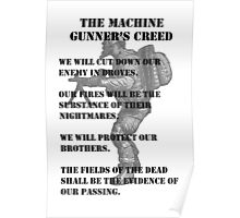 The Machine Gunner's Creed Poster