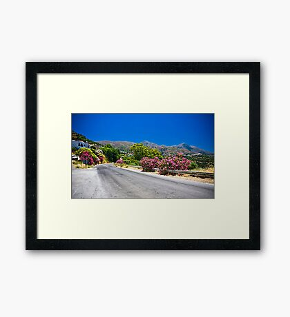 Empty Road Framed Print